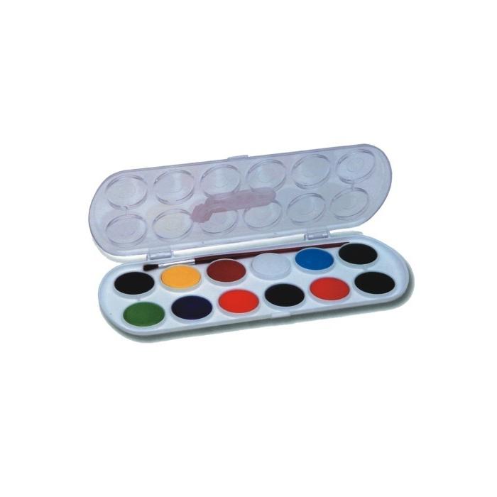 Vodové barvy JOVI 12 ks, průměr 30 mm