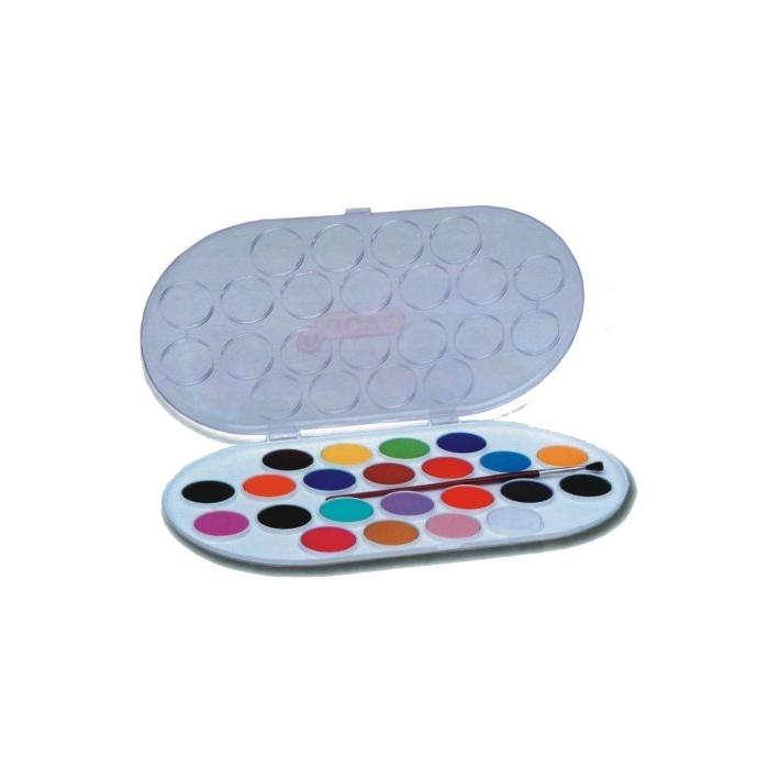 Vodové barvy JOVI 22 ks, průměr 30 mm