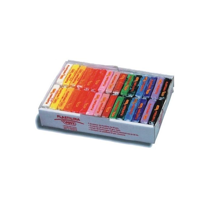 Plastelína JOVI 30 x 50 g, 15 barev