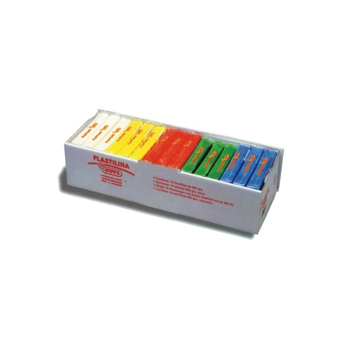 Plastelína  JOVI 15 x 350 g, 5 barev