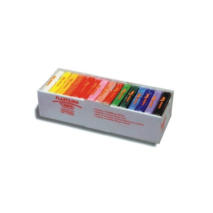 Plastelína JOVI 15 x 350 g, 15 barev