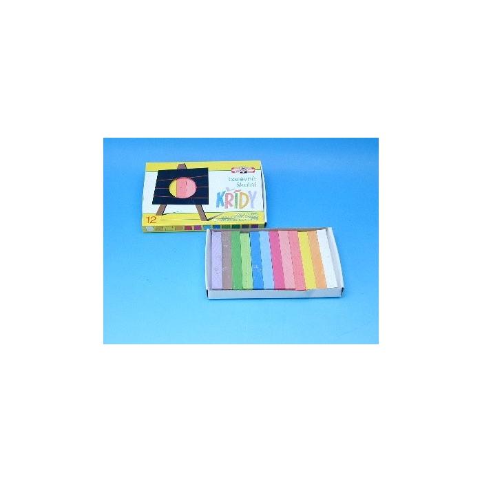 Barevné křídy 12 x 12 mm, 12 barev