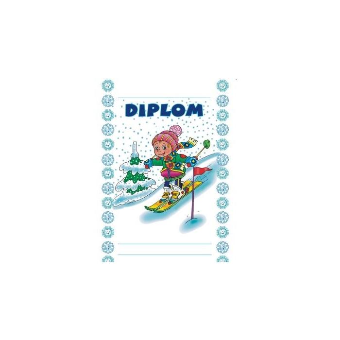 Diplom A5 - Lyžař