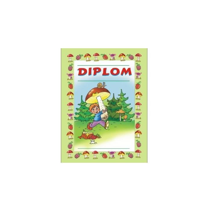 Diplom A5 - Táborový, houbař