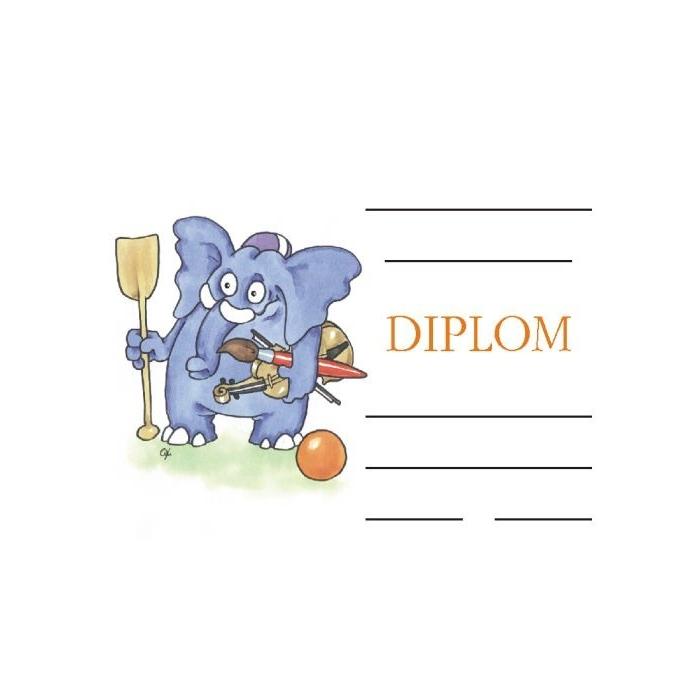 Diplom A5 - Slon všeuměl