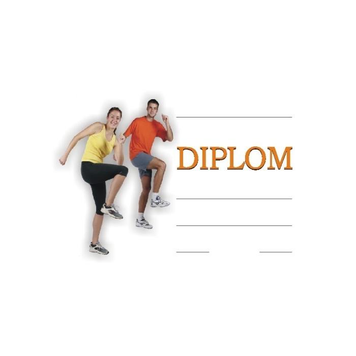 Diplom A4 - Aerobic, cvičení